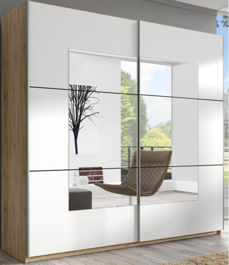 Aranżacja małych wnętrz - szafy z lustrem powiększą twoje mieszkanie